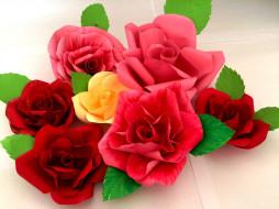 разное, ремесла,  поделки,  рукоделие, листья, цветение, rose, bud, petals, leaves, blossoms, лепестки, роза, бутон