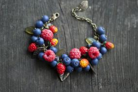 разное, украшения,  аксессуары,  веера, браслет, ежевика, ягоды