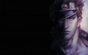 аниме, jojo`s bizarre adventure, мужчина, лицо, фуражка