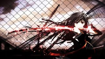 аниме, black bullet, девушка