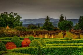 разное, садовые и парковые скульптуры, холмы, деревья, кустарники