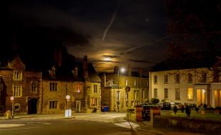 Англия обои для рабочего стола 1920x1174 англия, города, - огни ночного города, здания, ночь, дорога, машины, фонари