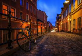стокгольм, города, стокгольм , швеция, здания, дорога, велосипед, фонари