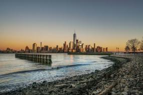 new york, города, нью-йорк , сша, панорама, небоскребы