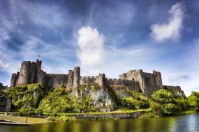 pembroke castle, города, замки англии, замок, фортпост