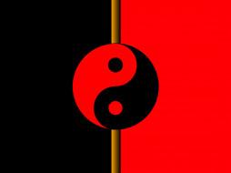 3д графика, инь-Янь , yin yang, инь, янь, символы