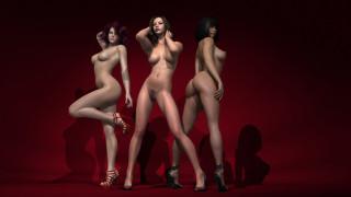 эротика, 3д-эротика, девушки, фон, взгляд, грудь