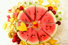 еда, арбуз, плоды