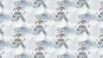 снеговик, Новый год, фон, текстура, праздник