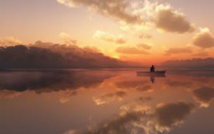 природа, утро, фото, пруд