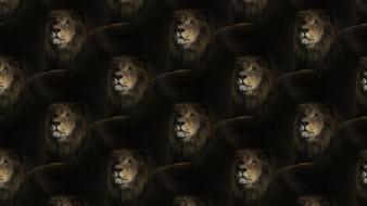 лев, грива