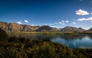 новая Зеландия, горы, природа, вода, озеро