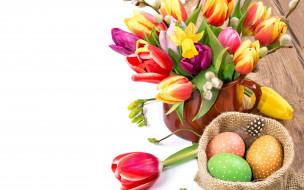 цветы, фон, яйца