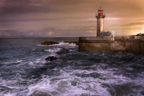 маяк, побережье