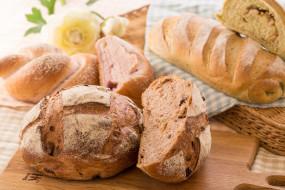 хлеб, ассорти, выпечка, булка