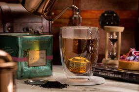 чайник, чашка, чай, часы