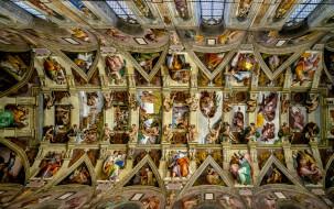 интерьер, убранство,  роспись храма, сикстинская, капелла, ватикан, возрождение, фрески, микеланджело, потолок