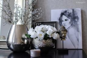 свеча, картина, розы, цветы, ваза