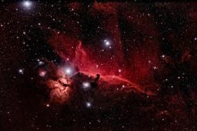 космос, галактики, туманности, конская, голова, звезды