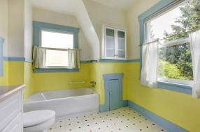 интерьер, ванная и туалетная комнаты, дизайн, цветы, стиль, ванная