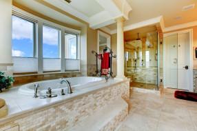 интерьер, ванная и туалетная комнаты, стиль, дизайн, ванная