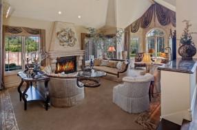 интерьер, гостиная, дизайн, цветы, оформление, мебель