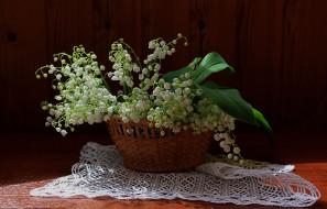 ландыши, букет, цветы, натюрморт