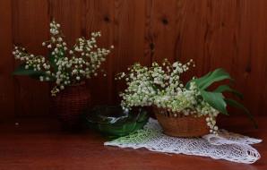 натюрморт, цветы, флора, растения, ландыши
