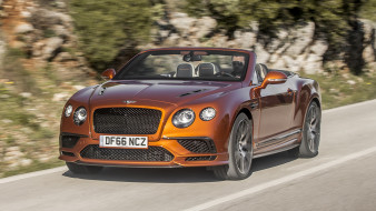 bentley continental gt supersports convertible 2018, автомобили, bentley, convertible, 2018, supersports, gt, continental