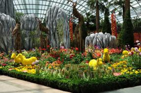 сингапур, разное, садовые и парковые скульптуры, цветы, растения