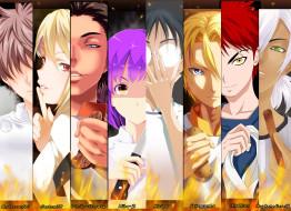 аниме, shokugeki no soma, персонажи