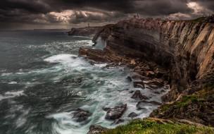 природа, моря, океаны, камни, волны, море, скалы, небо