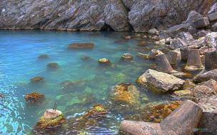 природа, побережье, вода, скалы, камни, море