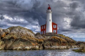 обои для рабочего стола 2048x1368 природа, маяки, канада, маяк, море, скалы, британская, колумбия