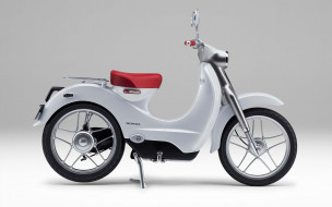 мотоциклы, honda, 2018, года, электрический, мотоцикл, ev-cub