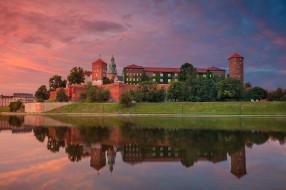 krakow, города, краков , польша, панорама