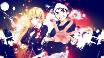 обои для рабочего стола 1920x1080 аниме, shokugeki no soma, двое