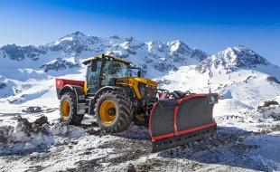 техника, строительная техника, снег, горы