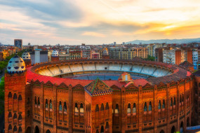 barcelona, города, барселона , испания, панорама