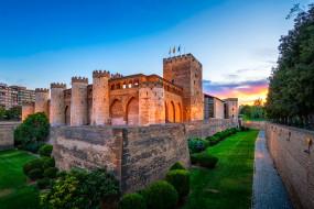 aljaferia palace, города, - дворцы,  замки,  крепости, дворец