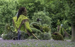 разное, садовые и парковые скульптуры, красота, клумба, скульптура, озеленение, парк