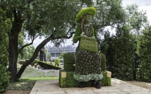 разное, садовые и парковые скульптуры, клумба, парк, озеленение, скульптура, красота