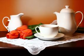 разное, посуда,  столовые приборы,  кухонная утварь, композиции, натюрморты, нфд, тюльпаны, цветы