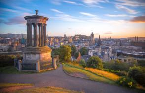 edinburgh,  scotland, города, эдинбург , шотландия, панорама