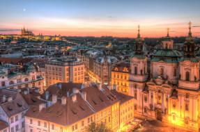 prague, города, прага , Чехия, панорама