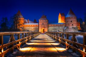 trakai castle, города, - дворцы,  замки,  крепости, панорама