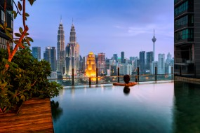kuala lumpur, города, куала-лумпур , малайзия, небоскребы, панорама
