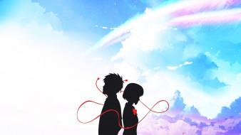 аниме, kimi no na wa, двое
