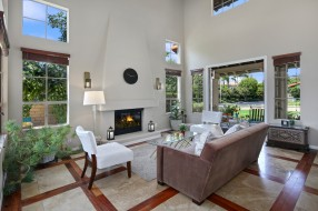 интерьер, гостиная, цветы, мебель, оформление, дизайн