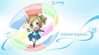компьютеры, internet explorer, фон, взгляд, девушка